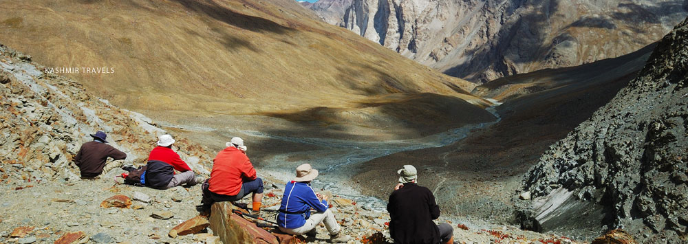Trekking on Ladakh Mountaions